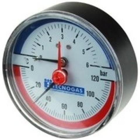 Termomanometru 10 bar 120grC axial
