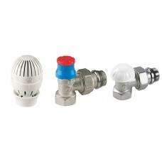 Robinet termostatat + Cap termostatic + Robinet retur GIACOMINI  (set)